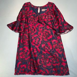 Juicy Couture silk metallic mod dress